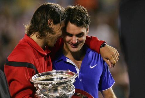 Rafa Nadal & Roger Federer at 2009 Australian Open